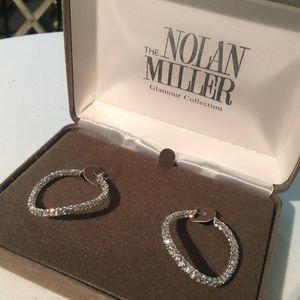 Nolan Miller Glamour Collection Hoop Earrings